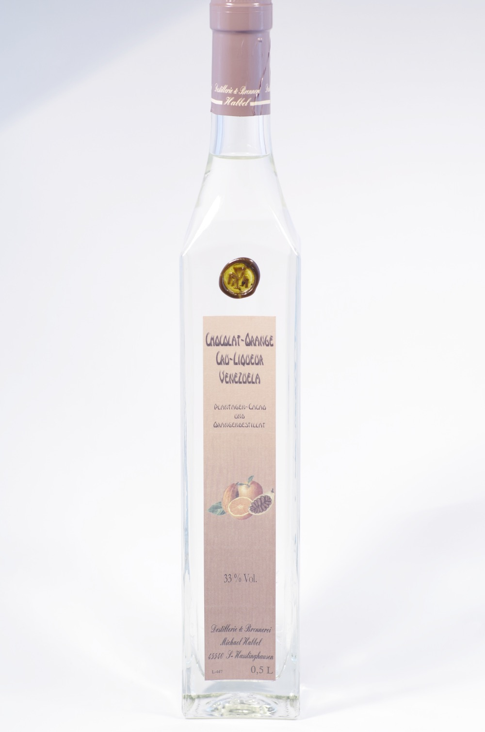 Habbel Chocolat-Orange Cru-Liqueur Bild